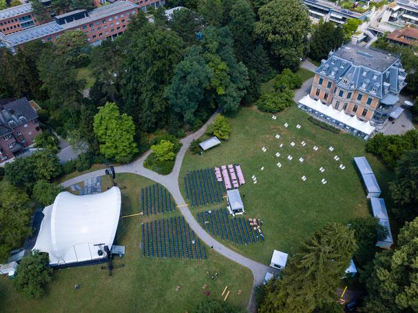 Luftaufnahme Classic Open Air, Musikkollegium Winterthur