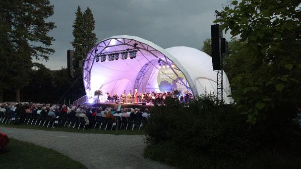 Bühne mieten, Open Air, Orchester, Park, Rychenbergpark