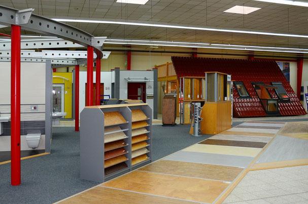 Ausstellung Bodenbeläge und Dachfenster