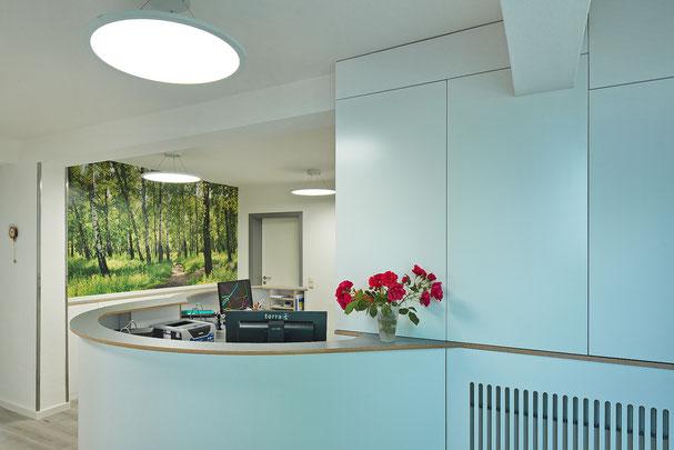 Arztpraxis, Innenarchitektur, Gestaltung, modern