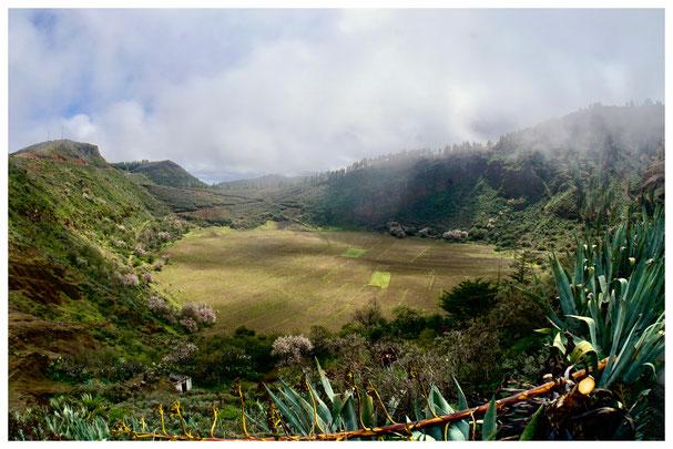 """Vulkankrater """"Los Marteles"""" auf Gran Canaria"""