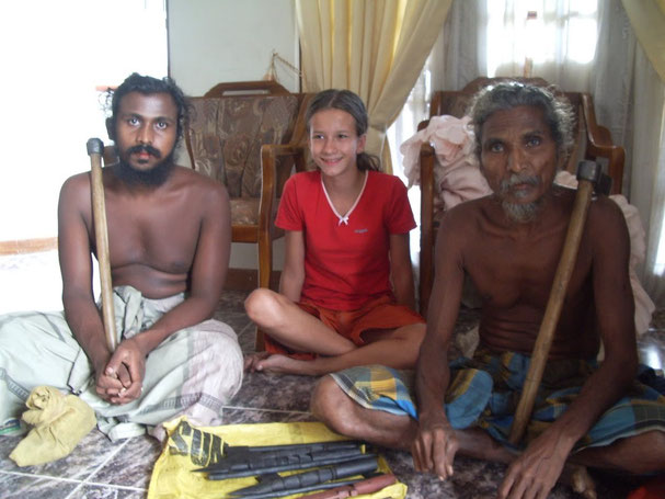 Ureinwohner Sri Lankas mit Laila