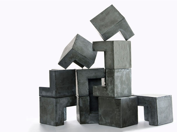 Custom Concrete Creation 'Cube in Cube' Modular Sculpture by PASiNGA