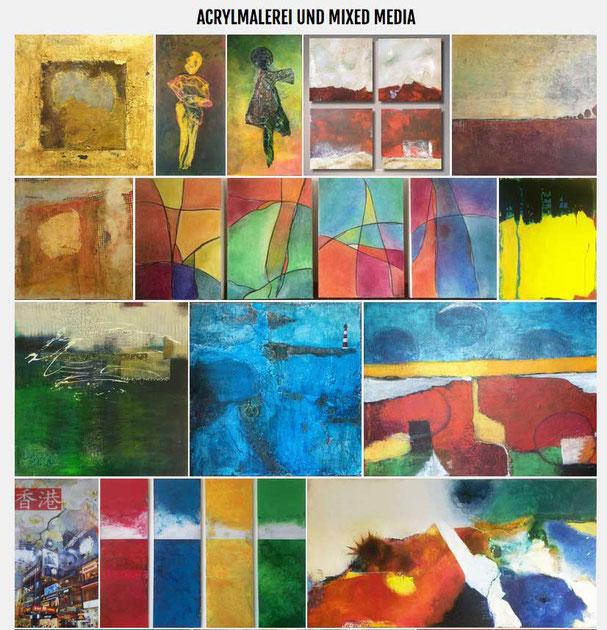 Malerei, Acrylmalerei, Beispiele von Angela Semmler