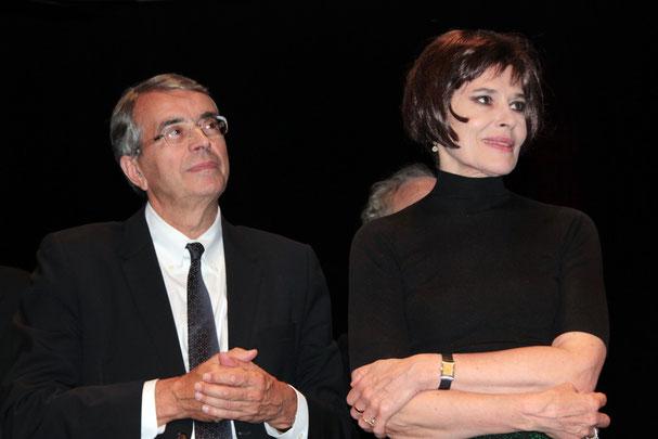 Jean-Jack Queyranne, Président de la Région Rhône-Alpes et Fanny Ardant - Festival Lumière 2011 - Lyon © Anik COUBLE