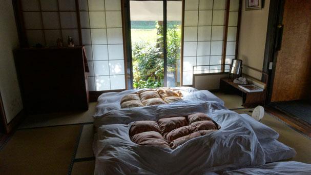 Japanese style tatami room with futon (4 pax)