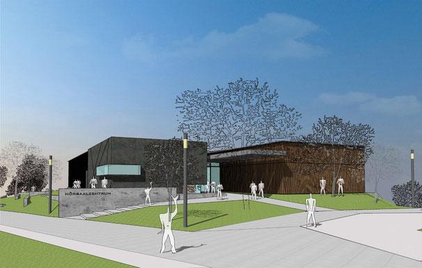 hörsaalzentrum duisburg essen planung visualisierung architektur drahtler architekten planungsgruppe dortmund