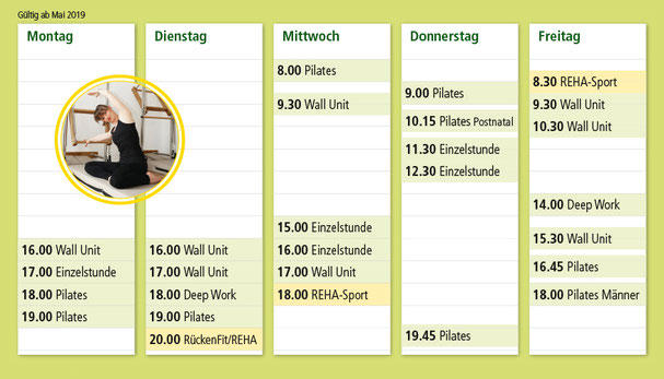 Trainingsplan für Pilates in Obergünzburg im Alläu