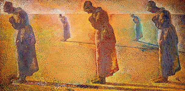 Рассвет, полдень, закат и сумерки - картина Сальвадора Дали