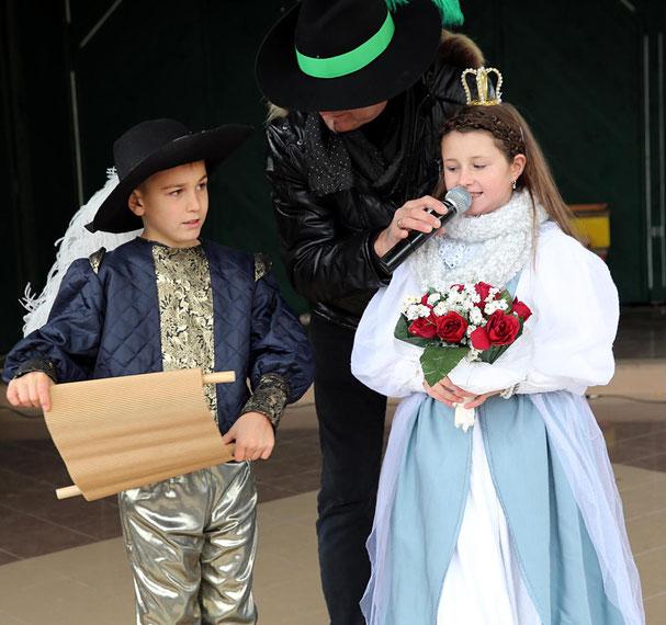 das Prinzenpaar Lorena I. u. Felix I. bei ihrer Proklamation