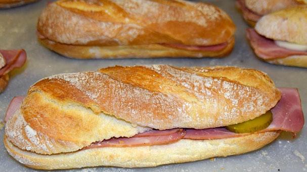Sandwichs aus der Bäckerei