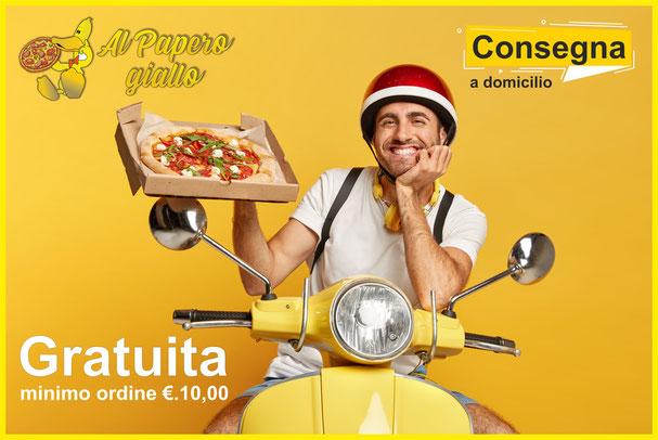 Pizzeria Rosticceria Gastronomia AL Papero giallo Bolzano asporto a domicilio