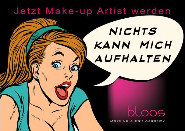 bloos, bloos Make-up & Hair Academy, Make-up Schule, Make up school, makeup, best make up school