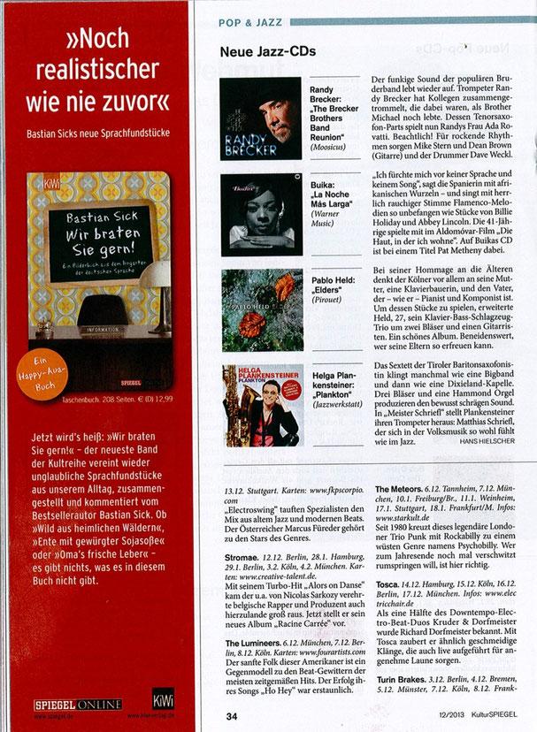 KulturSPIEGEL 12/2013