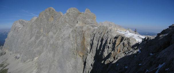 Ansicht von der Bergstation Richtung Gipfel