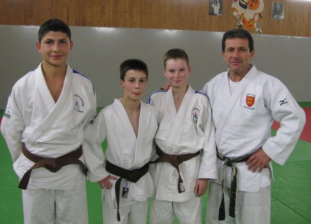Juan-Raphaël Souciet; Quentin Douarre; Gabin Besley et Alberto Ramos