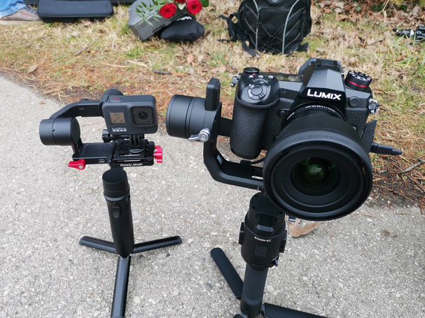 Ronin SC mit Lumix Panasonic G9 und Sigma 16mm 1.4