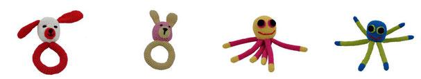 Gehäkelte Spielzeuge aus Bambus Viskose