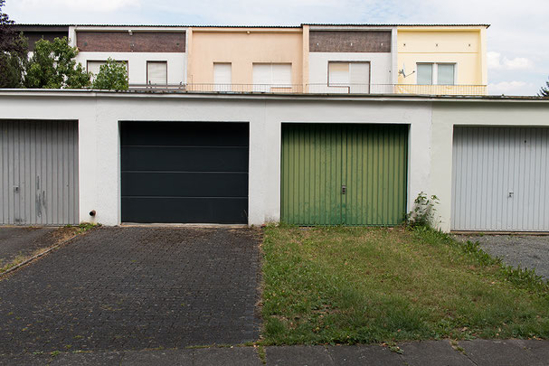 Garage, green, architecture, ground, Bonn, different