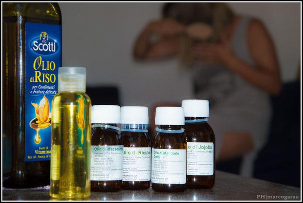 Olio protettivo per capelli, ideale per il mare, realizzato con olio di riso, olio di jojoba, olio di mandorle dolci, olio di macadamia, olio di ricino e fragranza di vaniglia