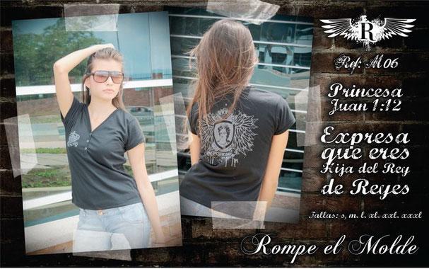 Camiseta Cristiana - Princesa