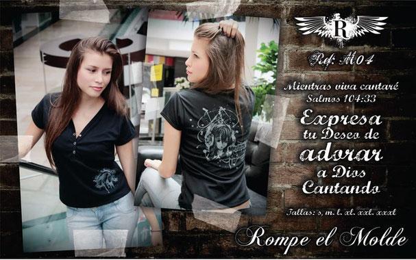 Camiseta Cristiana - Mientras Viva Cantaré