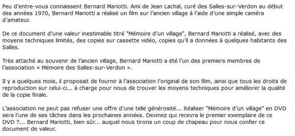 """texte publié dans le n°3 du bulletin """"Memoire Vive"""" de l'association"""