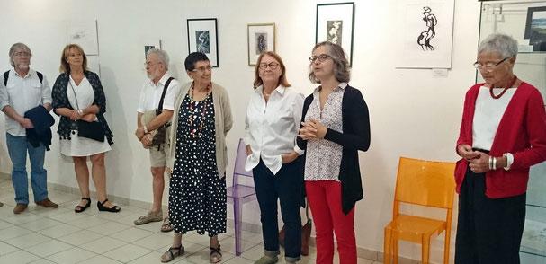 Elisabeth Poydenot d'Oro, Anne Sophie,  Nicole Fanelli, Lucette Poncin (de dte à gche)
