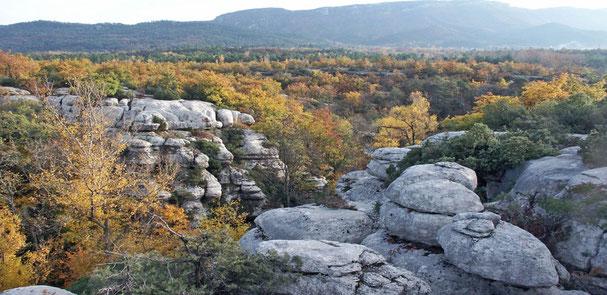 les gorges du Carami, au sud de Mazaugues