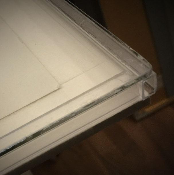 Glas - Distanzleiste - Trägerplatte