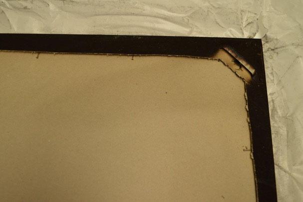 Rahmen über Eck verarbeitet, weiss. Aussenmass 91 x 78 cm