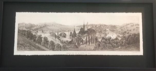Bilder einrahmen; Bern mit Nydegg- & Untertorbrücke