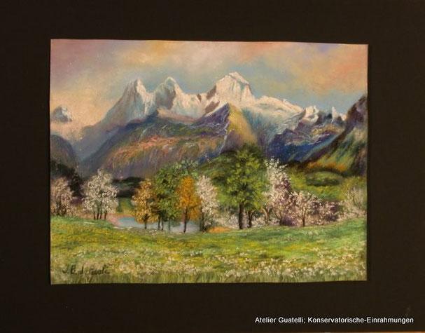 Pastell; 32 x 25 cm. Uebeschi - Seeli
