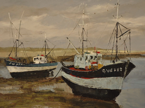 Schiff bei Ebbe