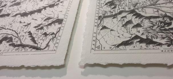 Einrahmung von Druckgrafik