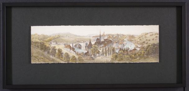 Berne - Encadrement moderne d'une gravure