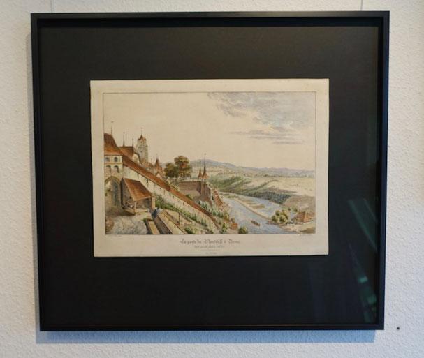 Bild Bern; alte Grafik neu eingerahmt
