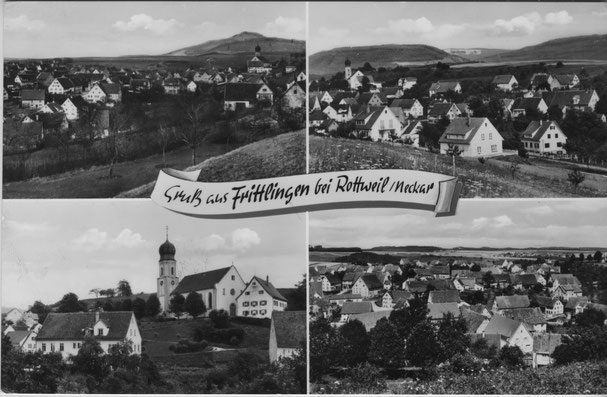 Alte Ansichtskarte von Frittlingen