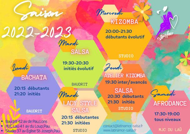planning des cours rentrée 2017