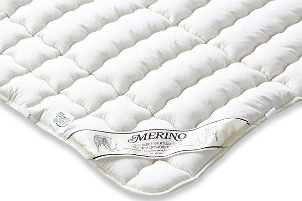 Matratzenauflage aus Schurwolle