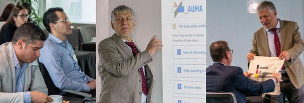 Impressionen des Seminars von AUMA-Repräsentant Olaf Banse in Mexiko-Stadt.