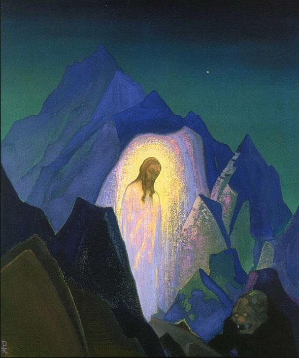 Николай Рерих. Христос в пустыне.