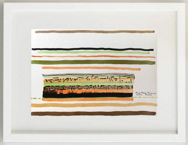 7 / ANNA MARIA TERRACINI, SENZA TITOLO, 1973, Acquerello su cartoncino, 30 x 20