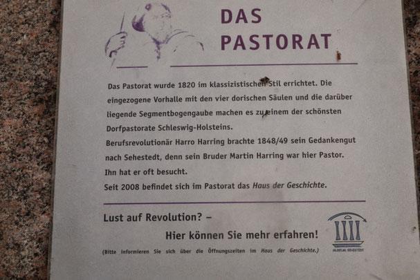Bild: Das Pastorat