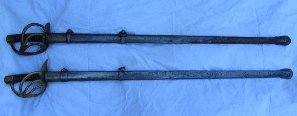 sabres des cuirassiers An IX et an XIII