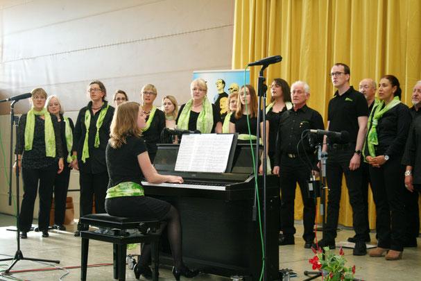 Der Gospelchor des MGV sang ebenfalls beim Frühjahrskonzert. Foto: Heiko Lehmann