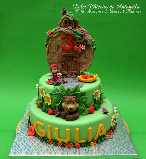 Masha orso-torte-la spezia-liguria-compleanni-cake design-torte decorate-bimbi