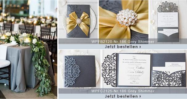 Lasercut Pocketfold Einladungskarten Hochzeit