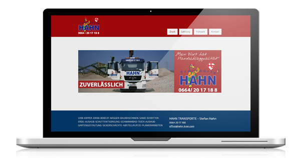 redesign webseite transporte hahn
