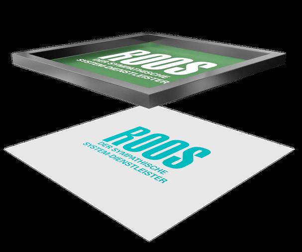 Fertiger Druckbogen mit Druckbild